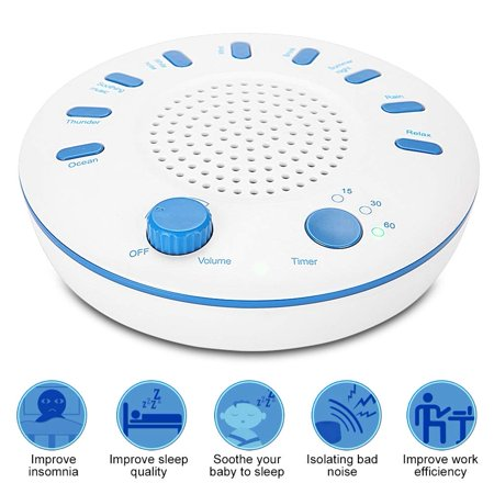 White Noise Sound Machine for Sleeping Baby/Adults White Noise Machine Assisted Sleep Machine Baby Sleep Device with 9 Soft Clear Soothing Sounds Timer for Home/Office