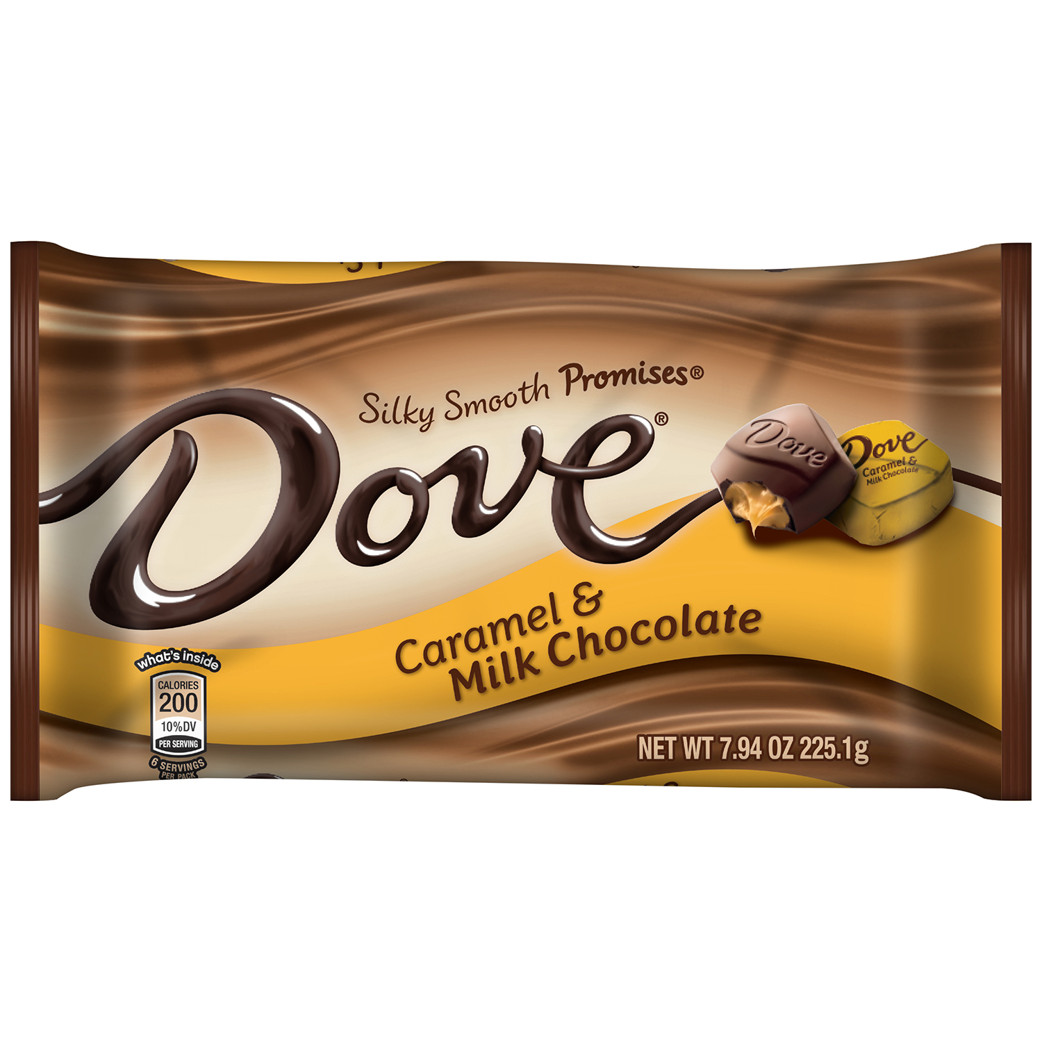DOVE PROMISES Caramel and Milk Chocolate Candy Bag, 7.94 oz by MARS, INC.