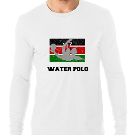 Kenya Olympic - Water Polo - Flag - Silhouette Men's Long Sleeve T-Shirt