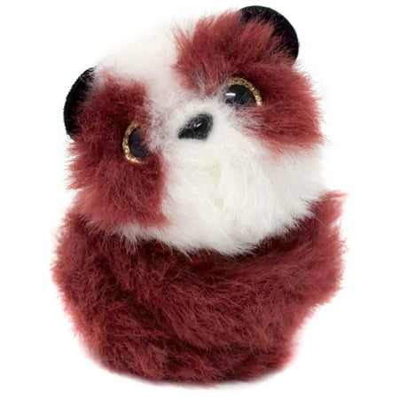 Pomsies Poos Moon (Panda) Series 1 Plush Toy with clip