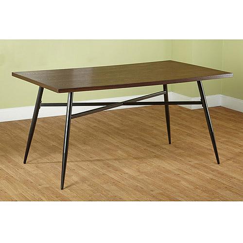 Windsor Mixed Media Large Dining Table, Black/Espresso