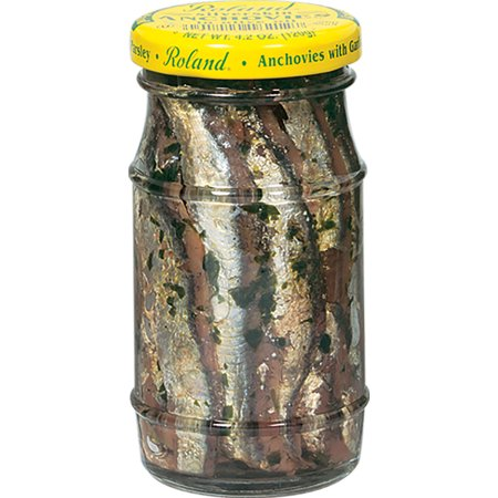 (2 Pack) Roland Silverskin Anchovies in Olive Oil, 4.2 (White Anchovies)