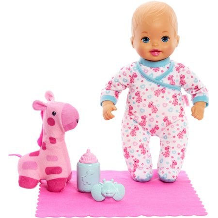 Little Mommy Goodnight Snuggles Baby Doll and Giraffe Plush - Little Girl Baby Doll Halloween Makeup