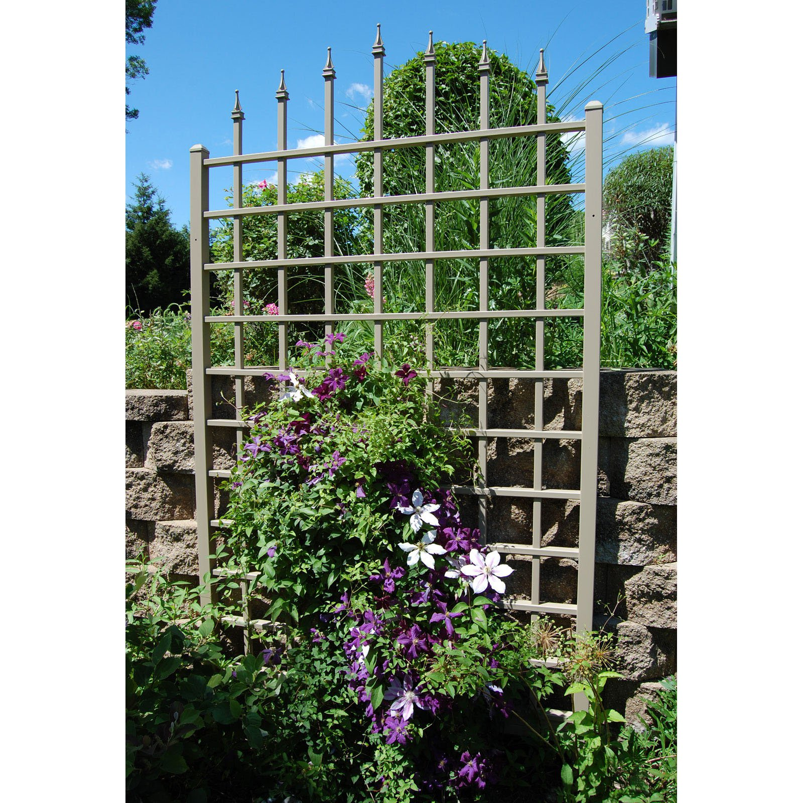 Buy More and Save! Winchester 8-ft. Mocha Vinyl Wall Trellis by Dura-Trel Inc