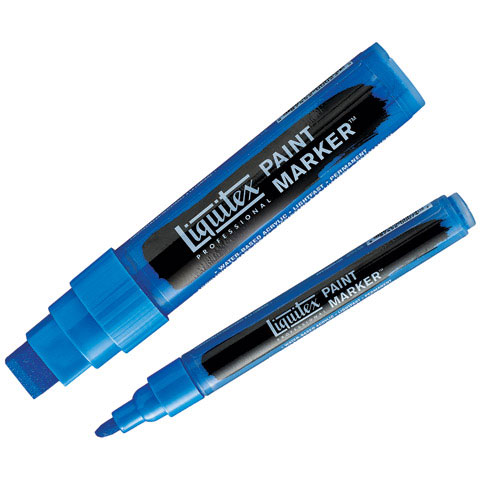 Liquitex - Paint Marker - Wide - 15mm Nib - Phthalocyanine Blue Green Shade
