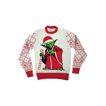 Off White Christmas Hoodie.Star Wars Jedi Yoda Dressed As Santa Off White Ugly Christmas Sweater