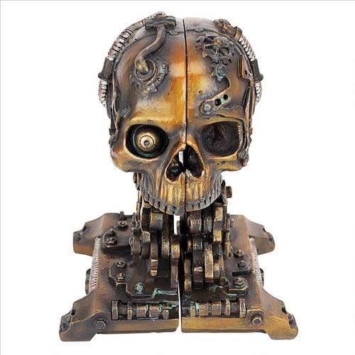 Design Toscano Cyborg Skeleton Statue Bookends (Set of 2) by Design Toscano
