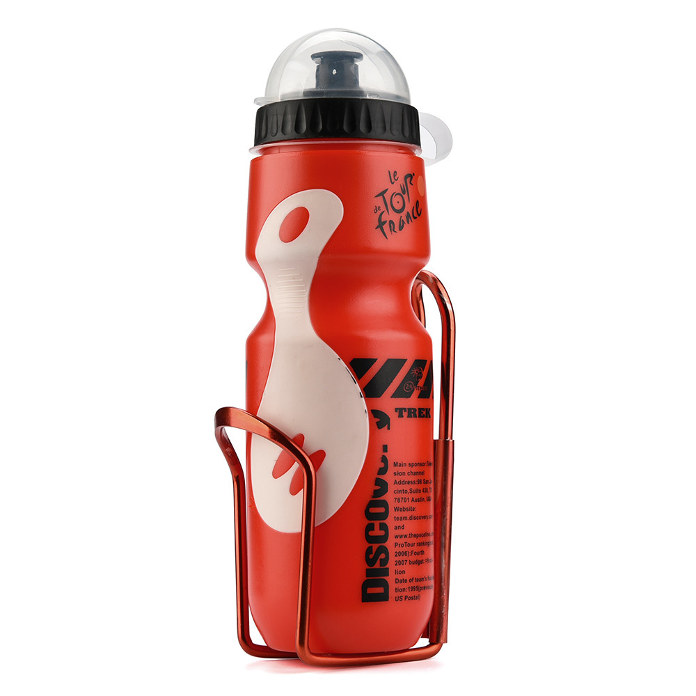 650ML Outdoor Water Bottle & Holder Cage Rack Mountain Cycling Bike Bicycle Kit Hight Quality