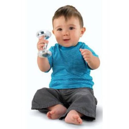 - Fisher-Price Baby's First Silver Dumbbell Rattle (Discontinued by Manufacturer)