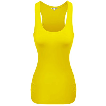 df92043fa8b23 FashionOutfit - FashionOutfit Women s Basic Cotton Sleeveless Racerback  Tank tops - Walmart.com
