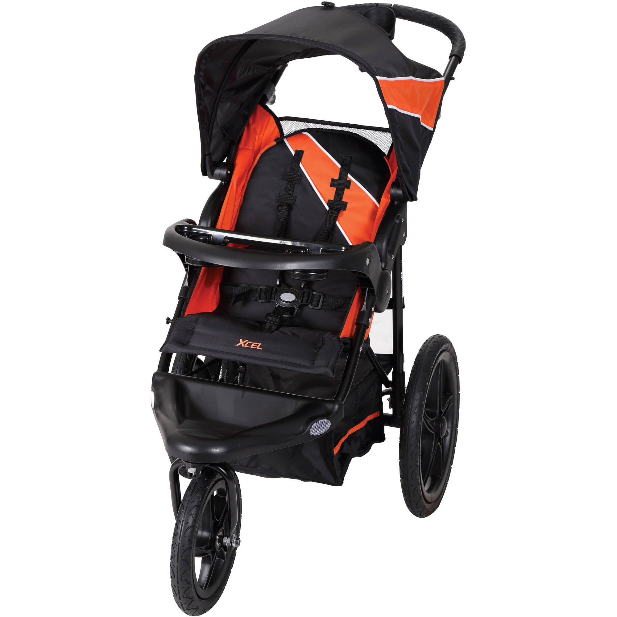 Baby Trend Xcel Jogging Stroller Tiger Lily Swivel Front