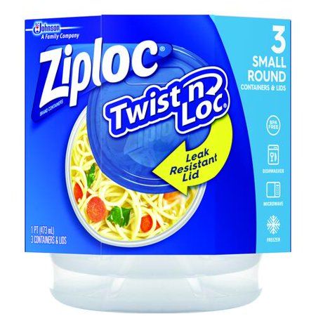 Ziploc® Twist 'n Loc® Small Round Containers - 3 ct. Small Round Twist