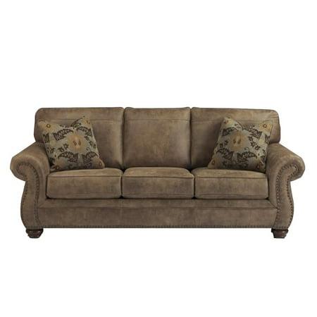 Ashley Larkinhurst Faux Leather Queen Size Sleeper Sofa In