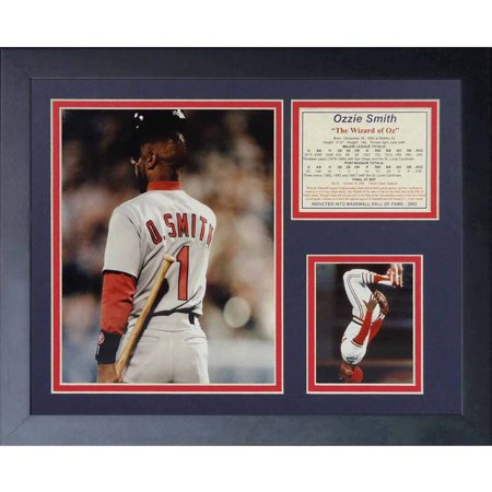 Legends Never Die  Ozzie Smith Final At Bat  Framed Photo Collage  11  X 14