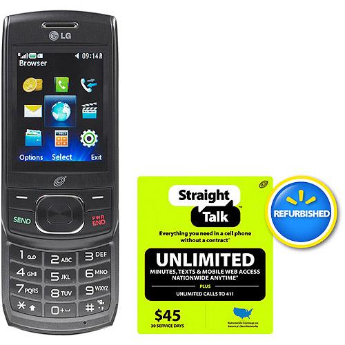 Straight Talk Lg 620g Phone With $45 Car