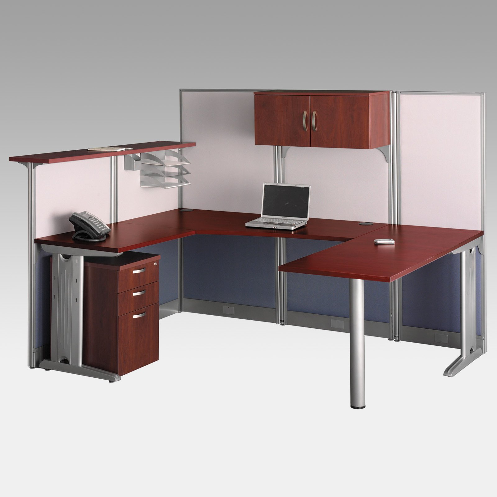 Bush Office-in-an-Hour U-Shaped Computer Desk with Storage and Reception