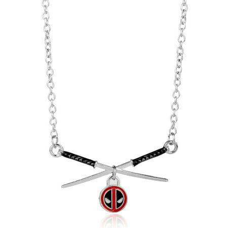 - Deadpool Samurai Sword Necklace Action Hero Tarnish Resistant Chain Pendant J-94
