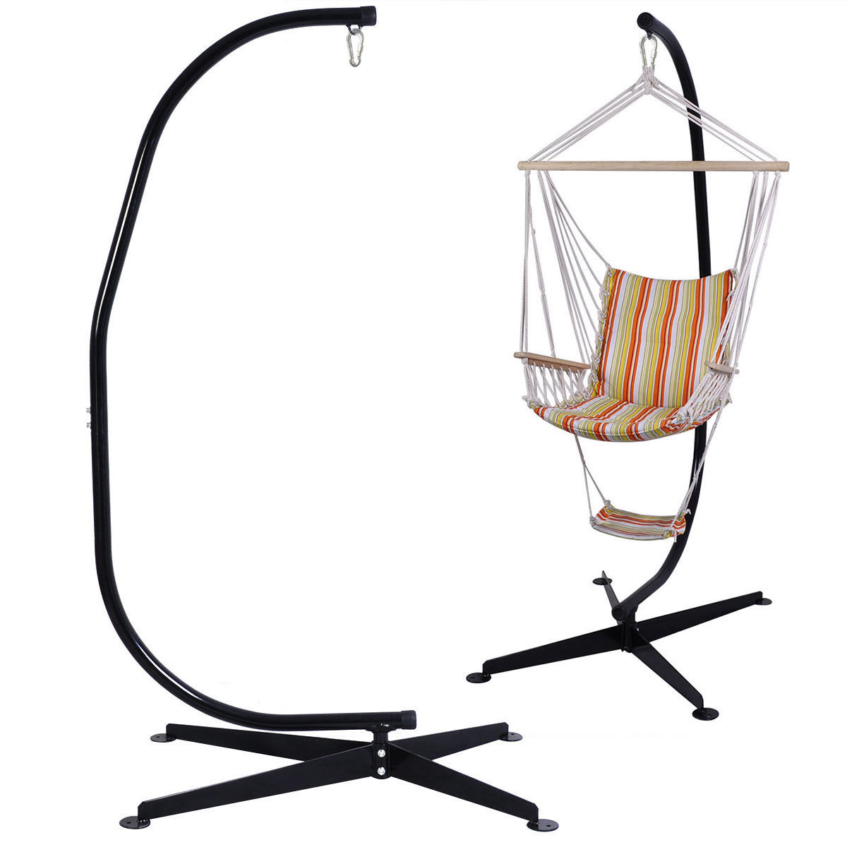 Costway C Hammock Frame Stand Solid Steel Construction by Costway