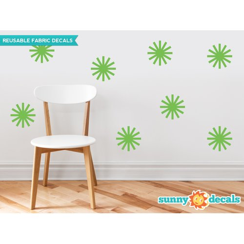 Sunny Decals Starburst Fabric Wall Decal (Set of 8)