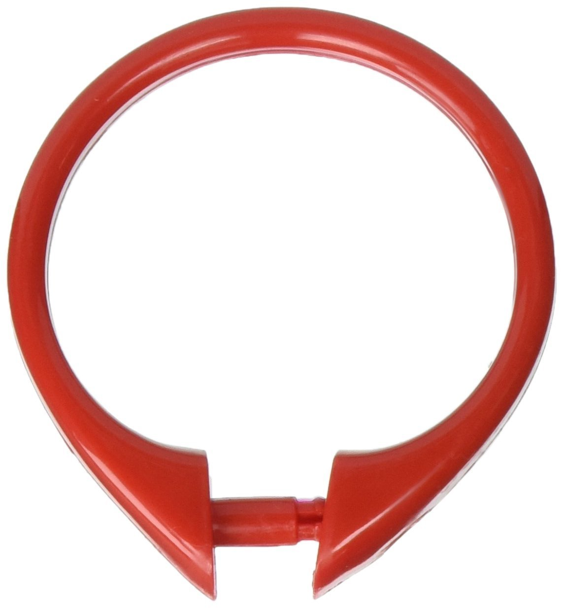 """""""Snap"""" Plastic Shower Curtain Hooks, Red, Set of 12 plastic shower curtain hooks By Carnation Home Fashions From USA"""