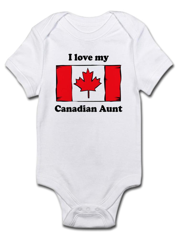 CafePress Somebody in Canada Loves Me Baby Bodysuit