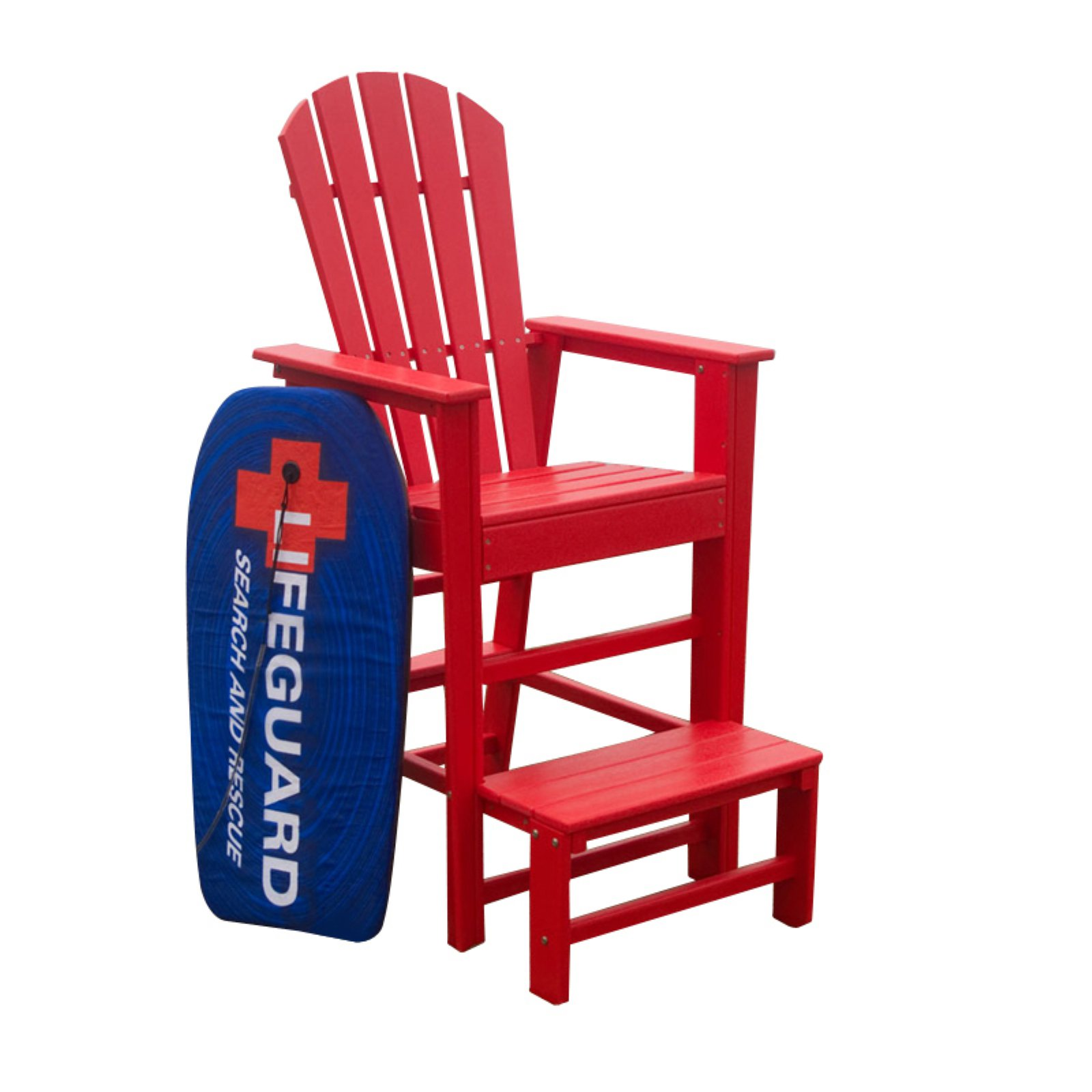 POLYWOOD South Beach Recycled Plastic Life Guard Chair