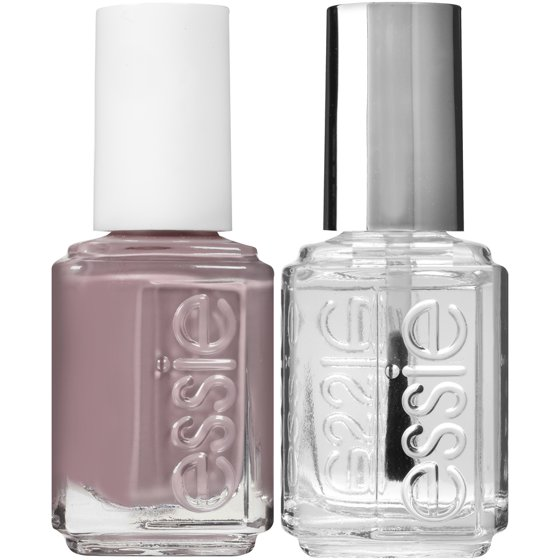 essie speed.setter top coat & nail polish kit, chinchilly + speed ...