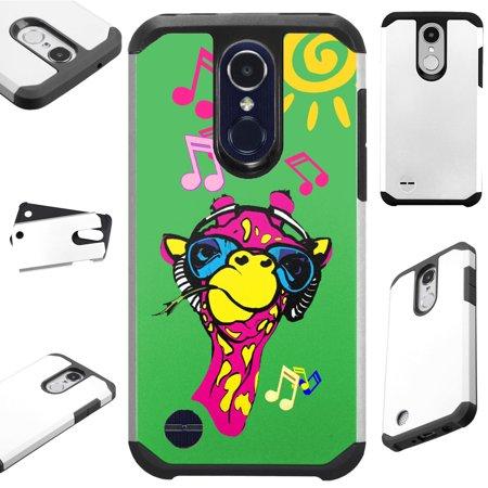 Compatible T-Mobile REVVL 2 (2018) | Alcatel 3 (2018) Case Hybrid TPU Fusion Phone Cover (Giraffe (Best Mobile Phone For Music)
