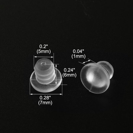 16pcs 5mm Clear Soft Stem Bumpers Glide, Patio Outdoor Furniture Glass Table Top Embedded - image 2 of 4