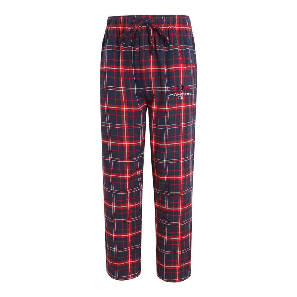 Boston Red Sox Concepts Sport 2018 World Series Champions Ultimate Flannel Pants - Navy