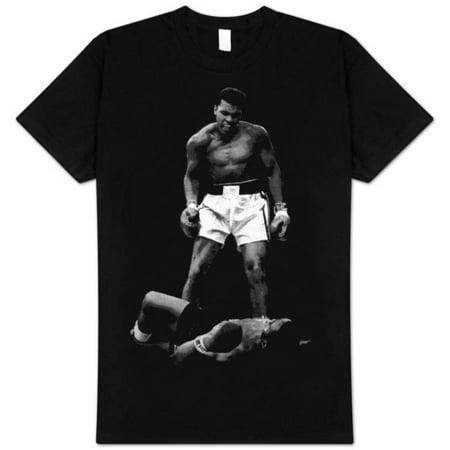 Muhammad Ali Mens  Ali Over Liston Slim Fit T Shirt Black