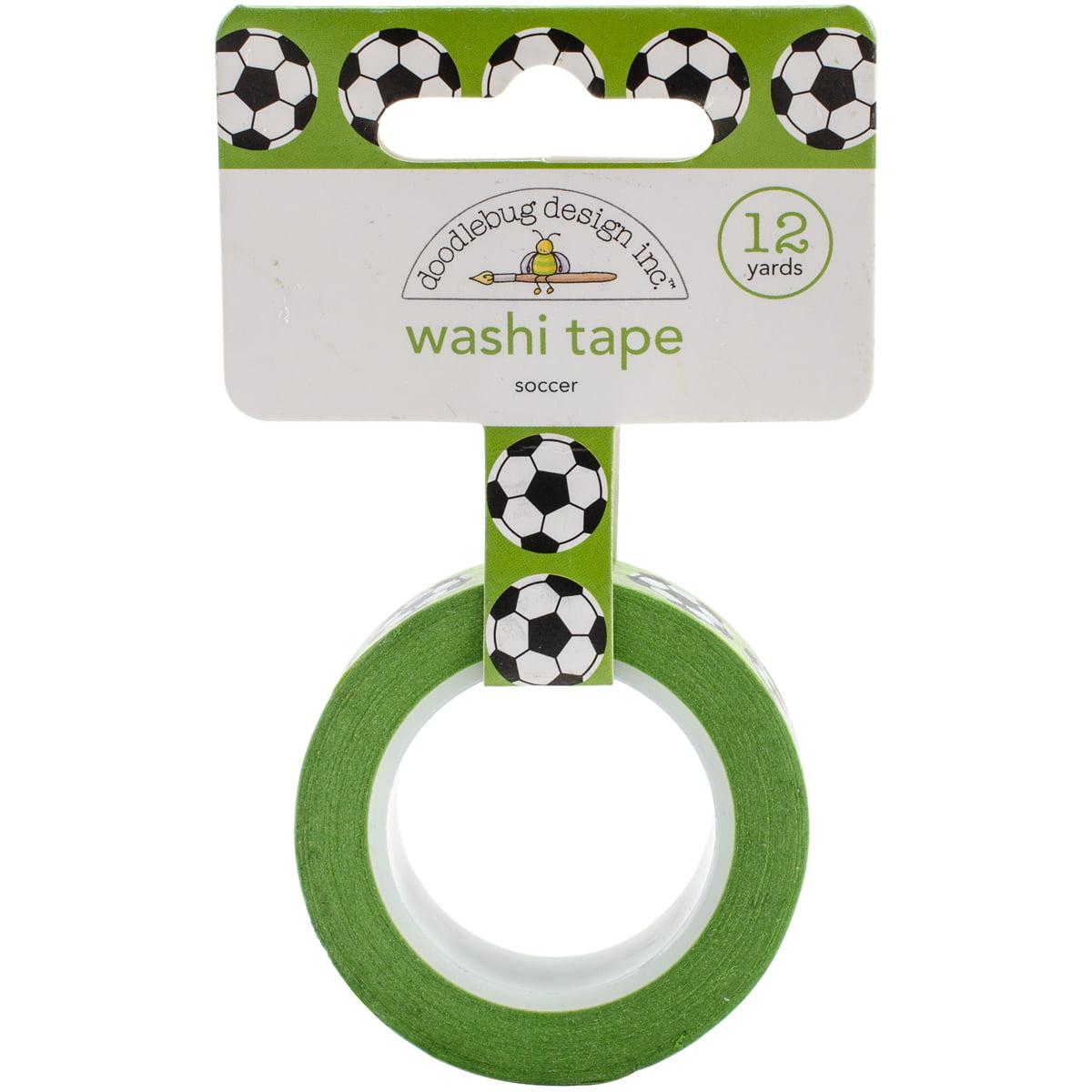 Doodlebug Washi Tape 15mm X 12yd-Goal!! Soccer Balls
