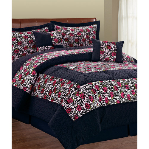 Serenta Safari Leopard Flower 6 Piece Comforter Set