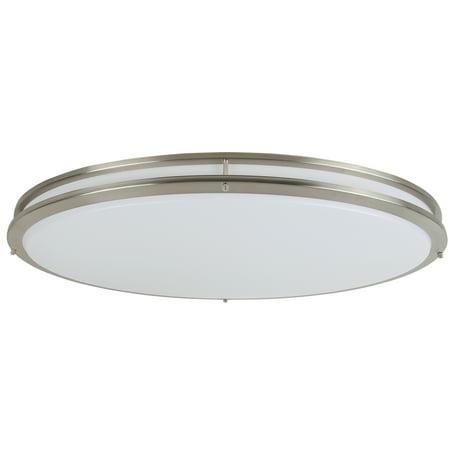 Design House Owens Integrated LED Ceiling Light in Brushed Nickel