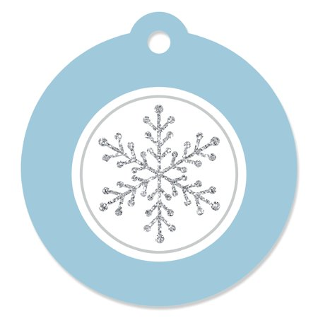Winter Wonderland Birthday (Winter Wonderland - Winter Wedding - Die-Cut Winter Wedding Favor Tags (Set of)