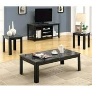 Monarch 3 Piece Table Set - Black/Grey