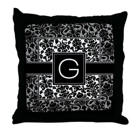 Monogrammed Throw Pillows (CafePress - Monogram Letter G Gifts - Decor Throw Pillow (18