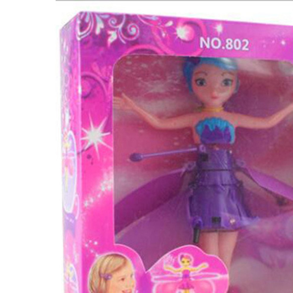 Joyce Fairy Doll Girl 6 Years Old Infrared Sensor Control Remote Control Helicopter Child Toy Teen Toy Ballet Girl Flying Princess Doll