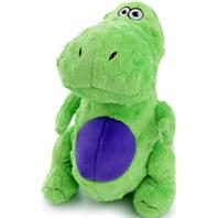 goDog® Just For Me™ T-Rex with Chew Guard Technology™ Plush Squeaker Dog Toy, Green