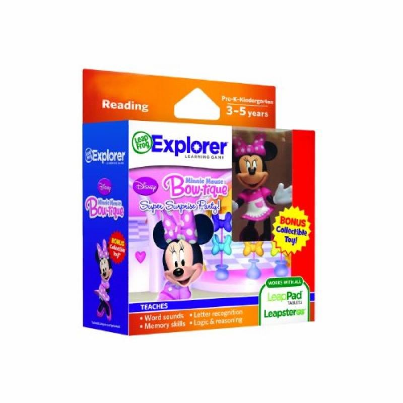 LeapFrog Explorer Disney Learning Games with Free Collectible Toy (Minnie Mouse Bow-Tique)