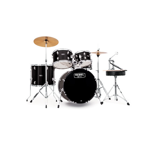 Mapex RB5294FTCDK Rebel 5-Piece Drumset w/ Hardware & Cymbals - Black