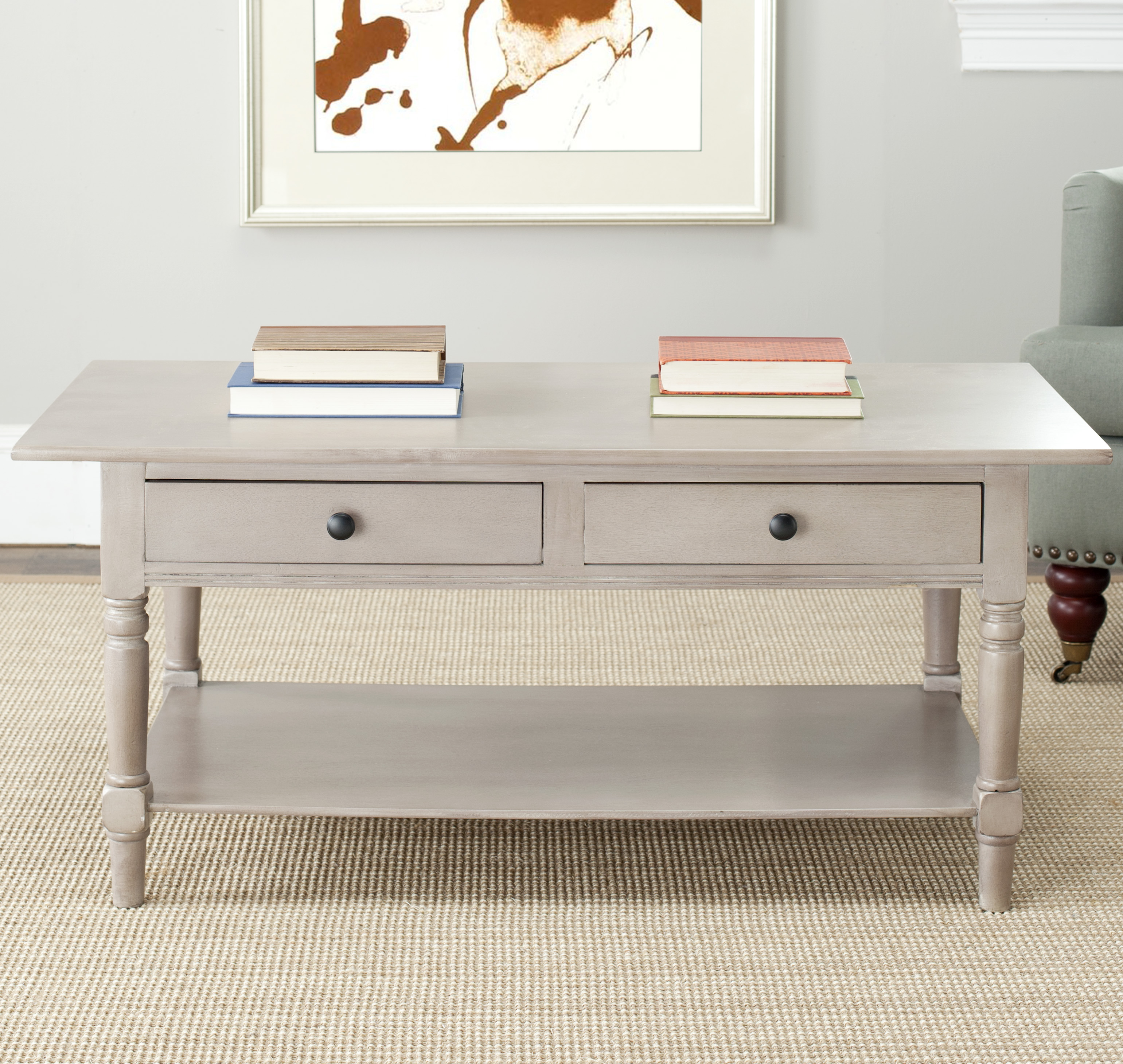 Safavieh Boris 2 Drawer Coffee Table