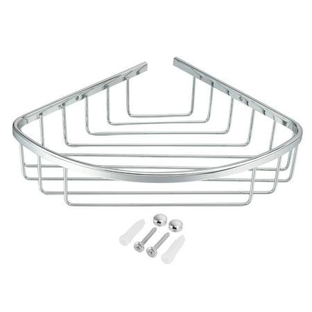 Uxcell 10.3-inchx7.6-inch Brass Bathroom Basket Shower Caddy Corner Shelf Shower Caddy Brass