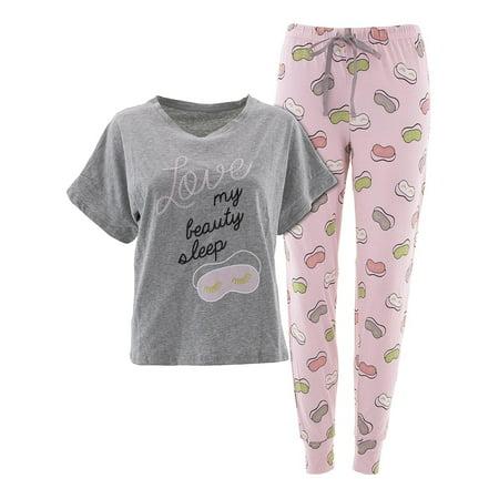 PJ Couture Womens Beauty Sleep Gray Pajamas