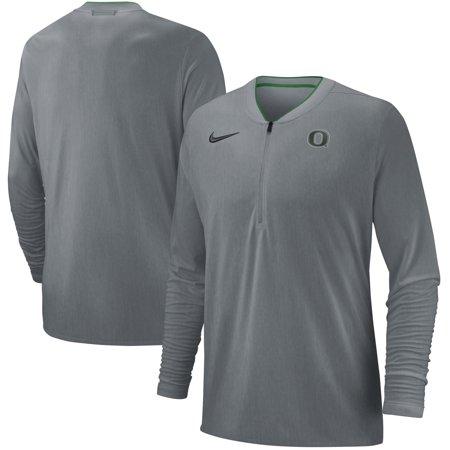 - Oregon Ducks Nike 2018 Coaches Sideline Performance Quarter-Zip Jacket - Heathered Gray