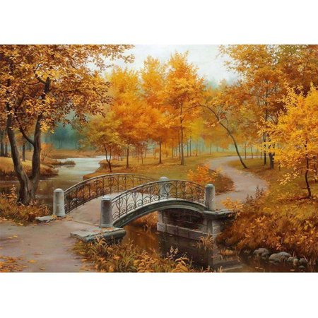 5D Diamond Painting Embroidery Landscape Cottage Cross Crafts DIY Kit (Resham Embroidery)