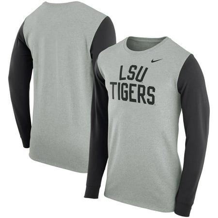 c95ce3e50 LSU Tigers Nike Elevated Essentials Long Sleeve T-Shirt - Charcoal -  Walmart.com