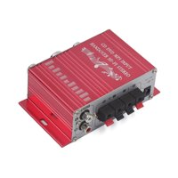 Unique Bargains 2-CH  Hi-Fi Car Boat Home Audio Stereo Amplifier CD DVD MP3 Player Red
