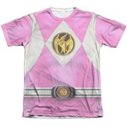Power Rangers - Pink Ranger Emblem - Short Sleeve Shirt - Large