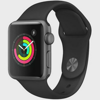 Refurbished Apple Watch Series 2 42mm Space Gray Case - Black Sport Band